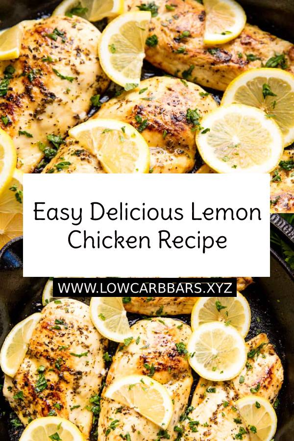 Easy Delicious Lemon Chicken Recipe - This Quick and Easy Lemon Chicken Recipe requires only a handful of pantry ingredients, but don't let the simplicity fool you. It's also outrageously delicious! #easydinnerrecipe #easychickenrecipe #chickenrecipe #chicken #dinnerrecipe #dinner #maindish #delicious #lemon #lemonchicken #lowcarb #keto