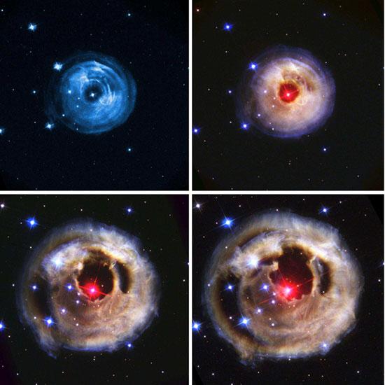 Hubble Space Telescope time sequence images of V838 Monocerotis (Source: Bond et al, arXiv:0303513v1)