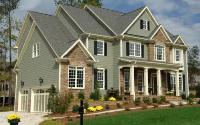 gray house exterior color schemes