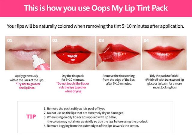 berrisom lip tint instructions