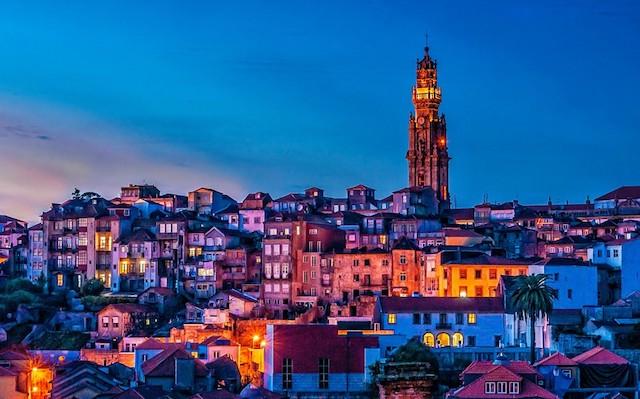 Torre dos Clérigos no Porto