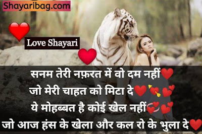 Romantic Love Shayari In Hindi Status