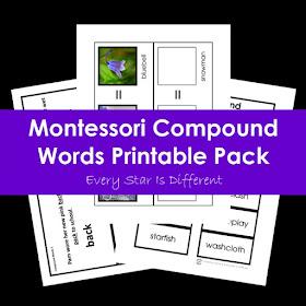 Montessori Compound Words Printable Pack