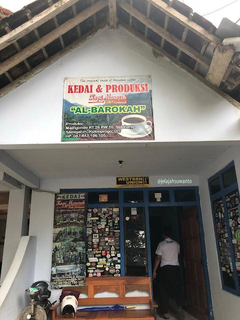 Lokasi Kedai & Produksi Kopi Menoreh Pak Rohmat ©JelajahSuwanto