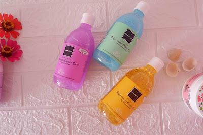 3 jenis brightening shower scrub scarlett whitening