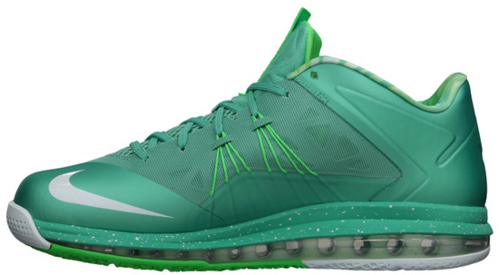quality design 3cb65 46d1f ... Nike Air Max LeBron X Low Crystal MintFiberglass-Poison Green Nike Zoom Lebron  10 ...