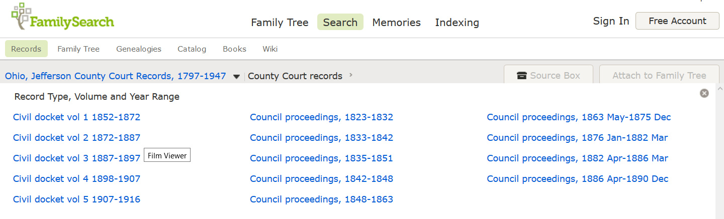 My Ancestors and Me: Searching for Common Pleas Court Records