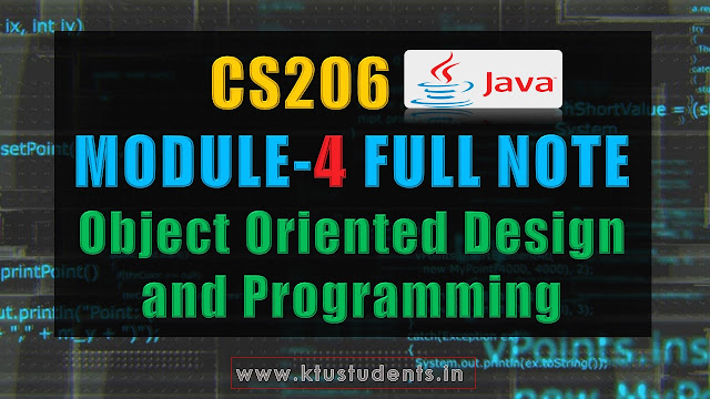 java cs206 module 4 note