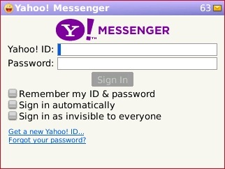 Error Can not Login Yahoo Messenger in blackberry, overcome this