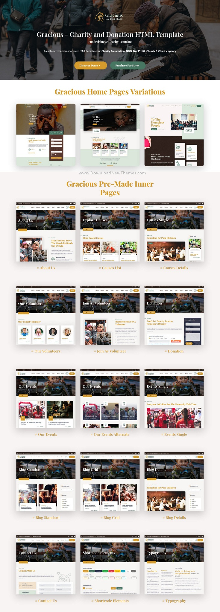 Charity and Donation Responsive Template