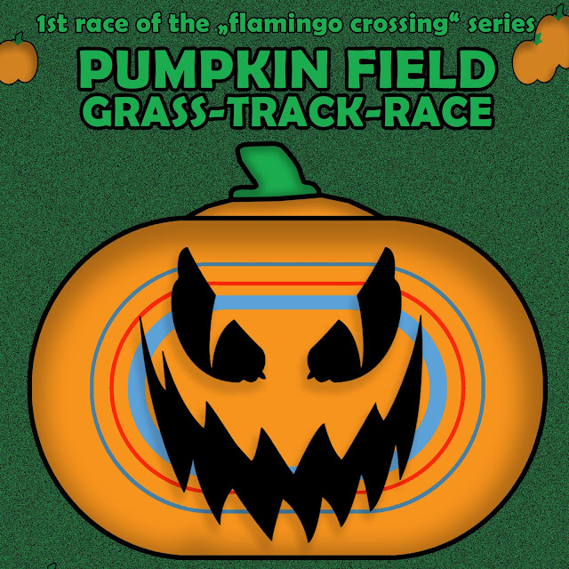 pumpkin field grass track race