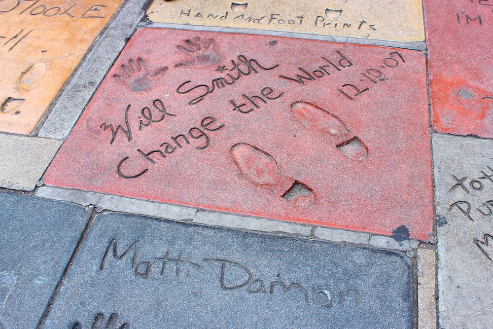 hollywood will smith handprints change the world