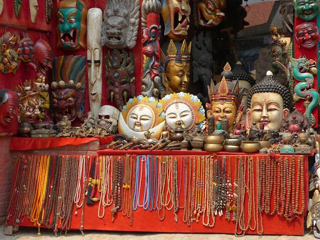 Handicrafts on display in Bhaktapur, Nepal