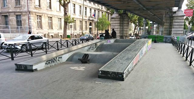Skatepark Paris Metro Chevaleret