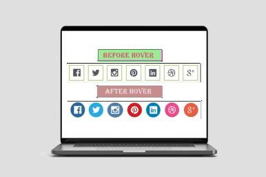Social Media Beautiful Buttons With Cool Hover Effects