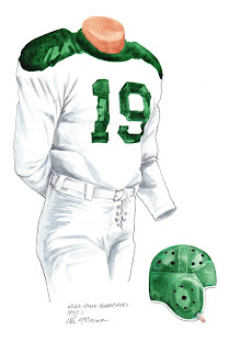 1937 Miami Hurricanes football uniform original art for sale