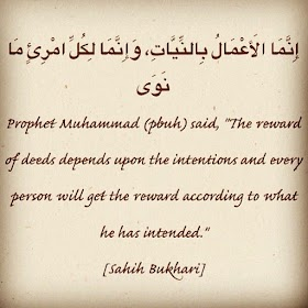 Actions Depend On Their Intentions Hadith With Explanation