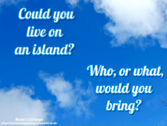 Could you live on an island?  Who, or what, would you bring?