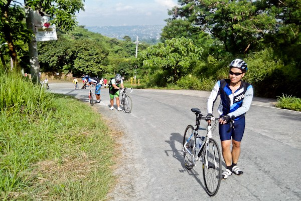 Uphill Road, Biking Up the Wall of Timberland