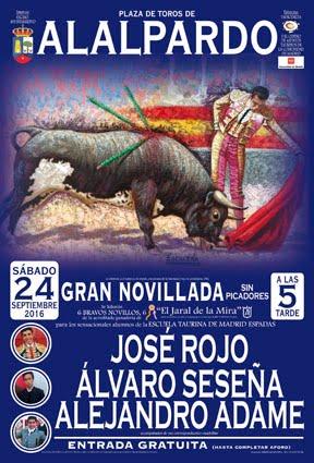 ALALPARDO (MADRID) 24-09-2016.  GRAN NOVILLADA.