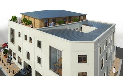 Axonométrie 3d promotion logements transformation réhabilitation