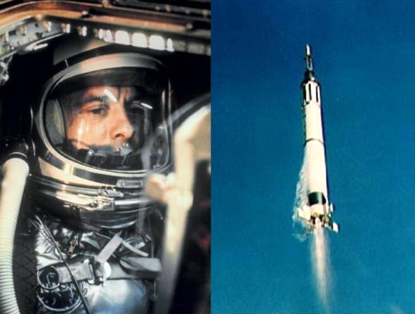 Launching aboard a Mercury-Redstone 3 rocket carrying his Freedom 7 capsule, NASA astronaut Alan Shepard became the first American to fly into space...on May 5, 1961.