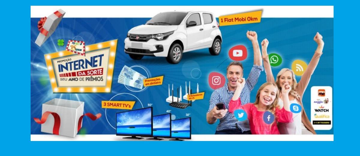 Promoção Internet da Sorte FB NET 2021 Carro e Prêmios - Seu Ano de Prêmios