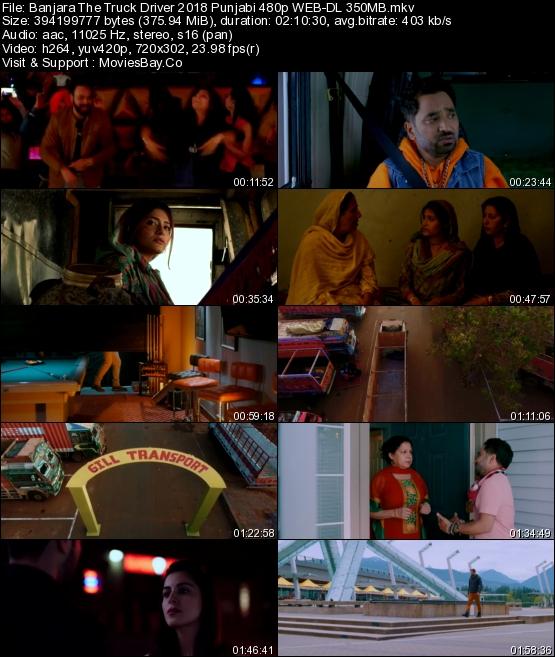 Banjara The Truck Driver 2018 Punjabi 480p WEB-DL 350MB
