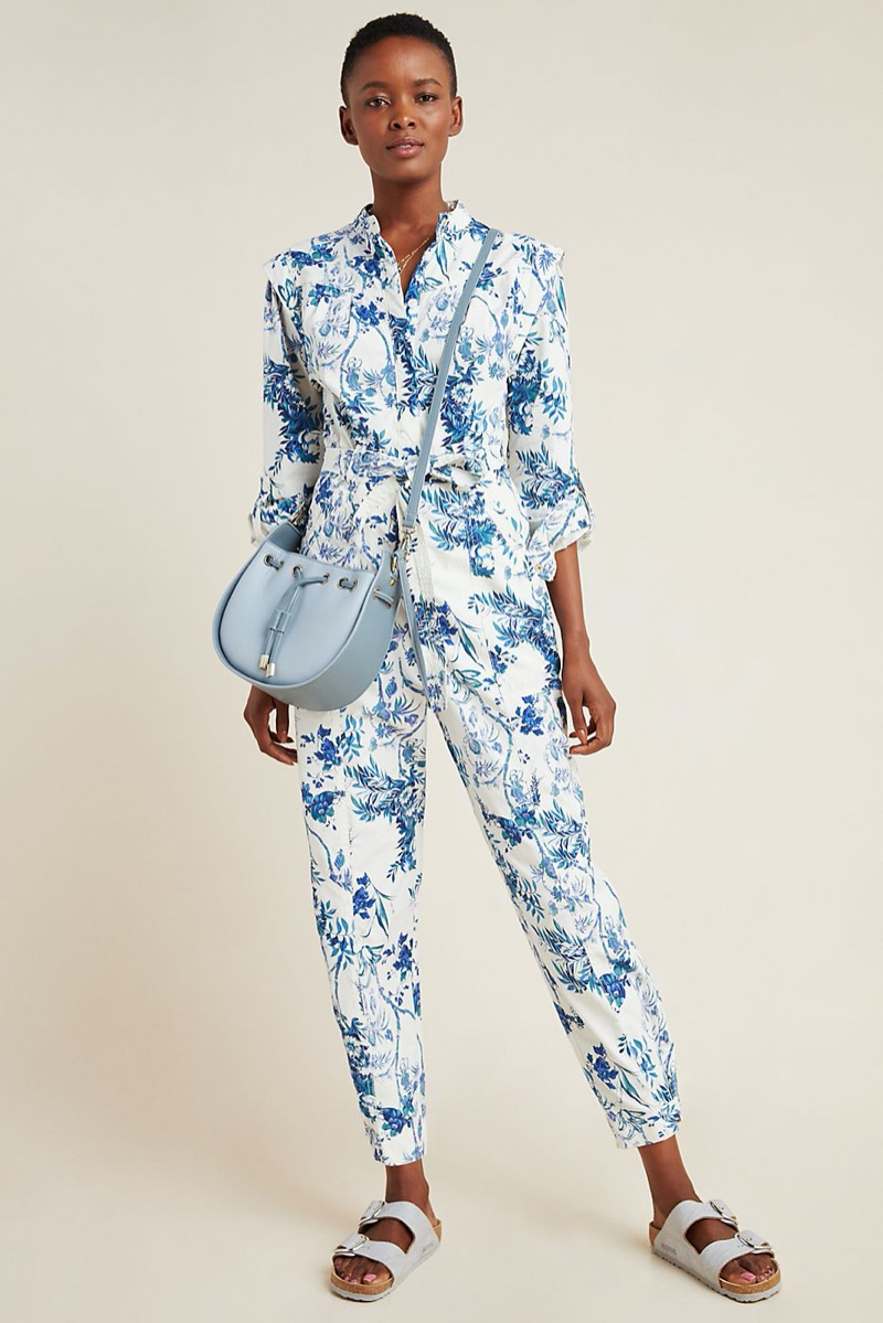 Anthropologie Lucienne Belted Jumpsuit