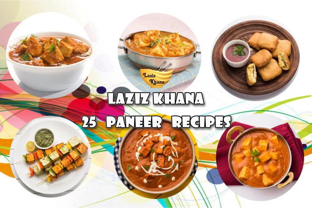 25 Paneer Recipes in Hindi