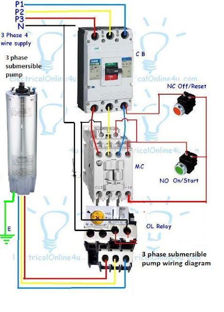 3 Phase Submersible Pump Wiring Diagram