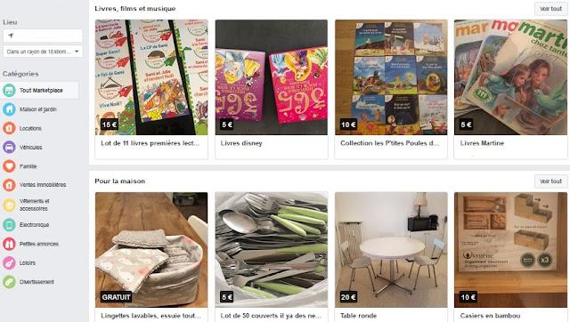 acheter d'occasion sur facebook avec l'onglet Marketplace