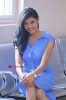 Telugu Actress Mounika UHD Stills in Blue Short Dress at Tik Tak Telugu Movie Audio Launch .COM 0194.JPG