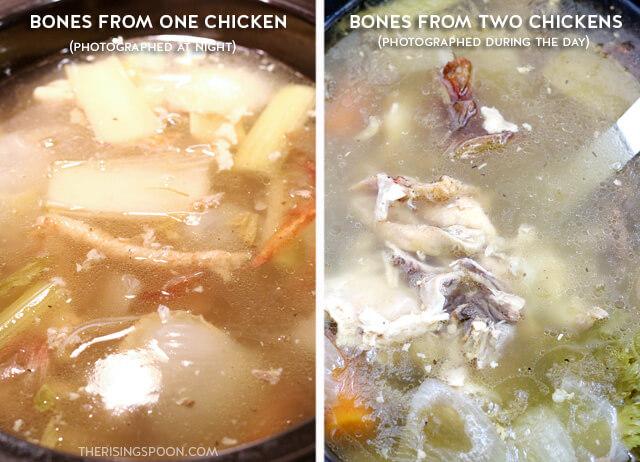 Making Homemade Slow Cooker Chicken Bone Broth