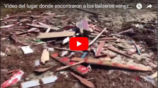 Vídeo del lugar donde encontraron a los balseros venezolanos fallecidos en Curazao