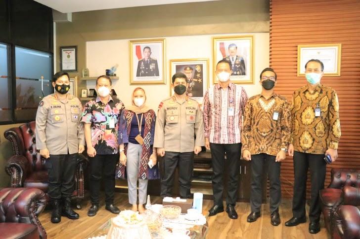 Audiensi PT. Garuda Indonesia Bersama Kapolda Sulsel Komitmen Tingkatkan Keamanan Bandara Internasional Hasanuddin