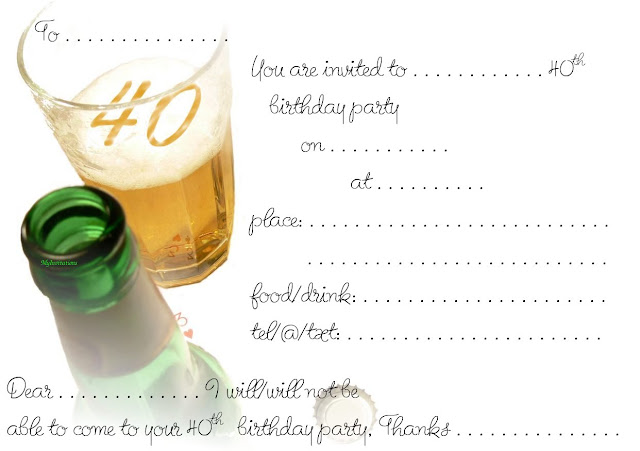 Imprimibles para fiesta de 40 a os 5 ideas y material - Cumpleanos dos anos ...