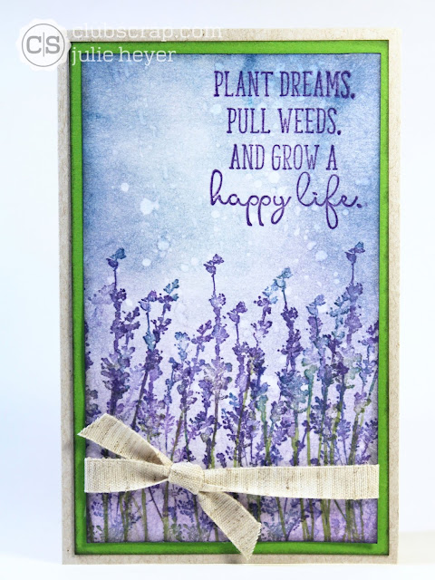 Lavender Fields Distress Oxides Card #clubscrap #distressoxides #lavender #cards