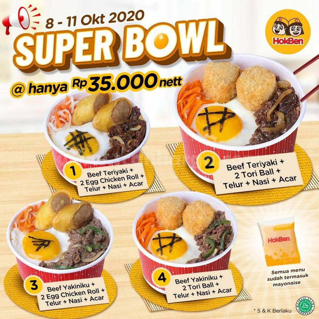 Promo HOKBEN SUPER BOWL harga hanya Rp 35.000 nett Periode 8-11 Oktober 2020