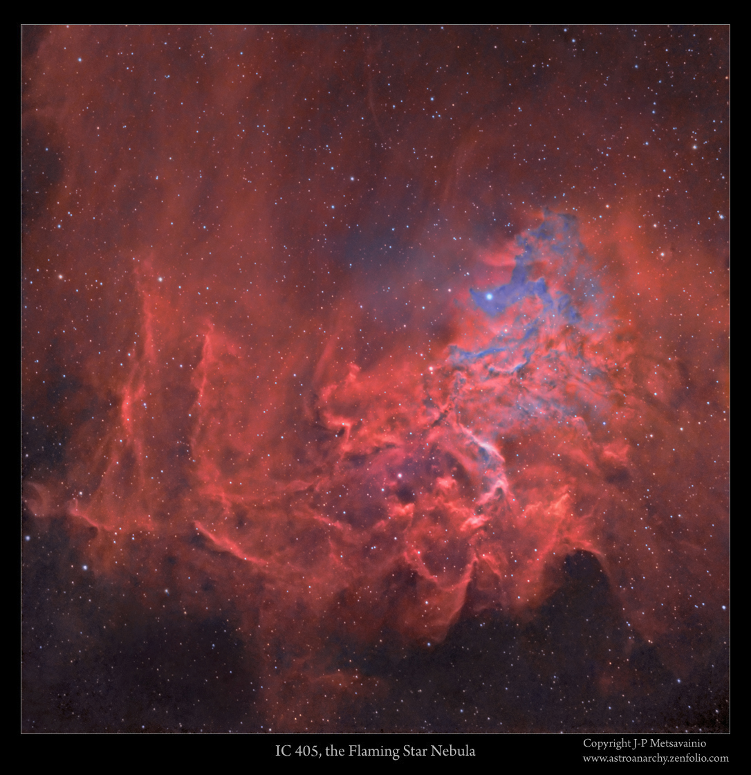 Astro Anarchy IC 405 the Flaming Star Nebula