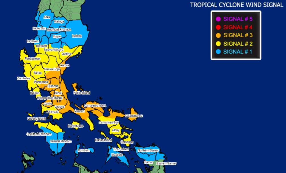 'Ulysses' intensifies into typhoon, Signal No. 3 up in 12 areas