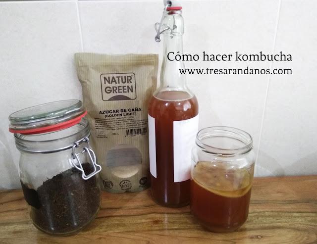 ingredientes para hacer kombucha