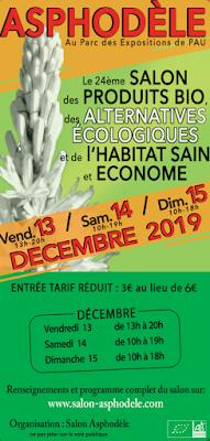 Asphodèle le salon des produits Bio Pau 2019