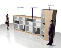 Design Lemari Pajangan Untuk Produk Kantor