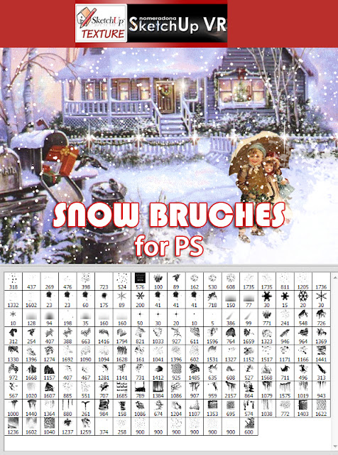 photoshop snow bruches