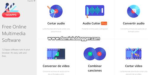 Herramientas para editar audio y videos online con 123apps