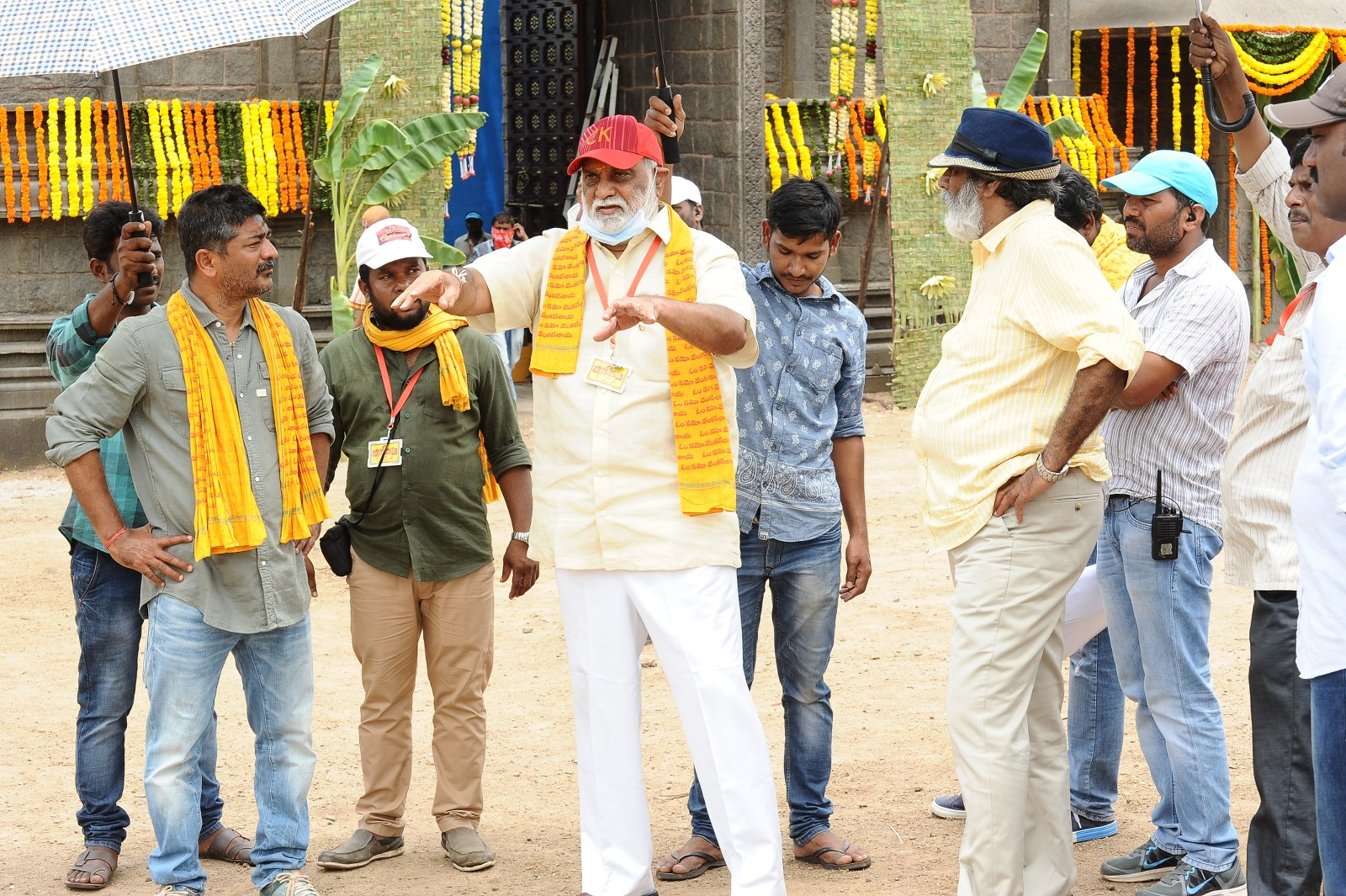 om namo venkatesaya working stills-HQ-Photo-5