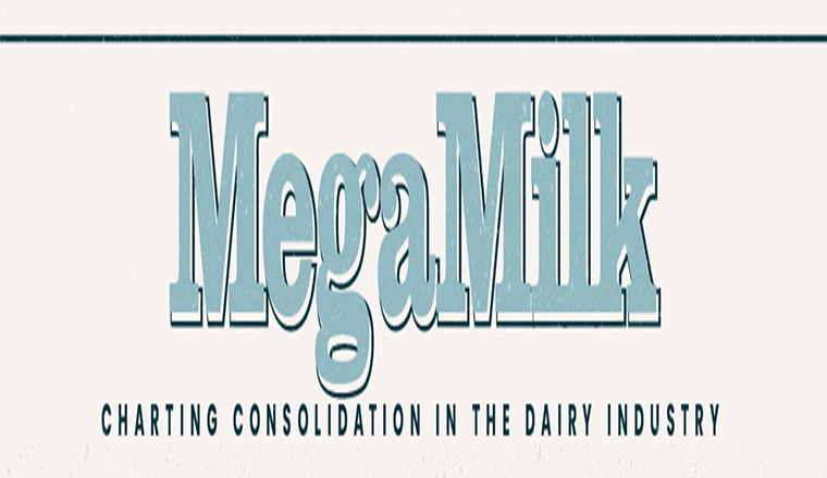 MegaMilk: Charting Consolidation in the U.S. Dairy Industry #infographic