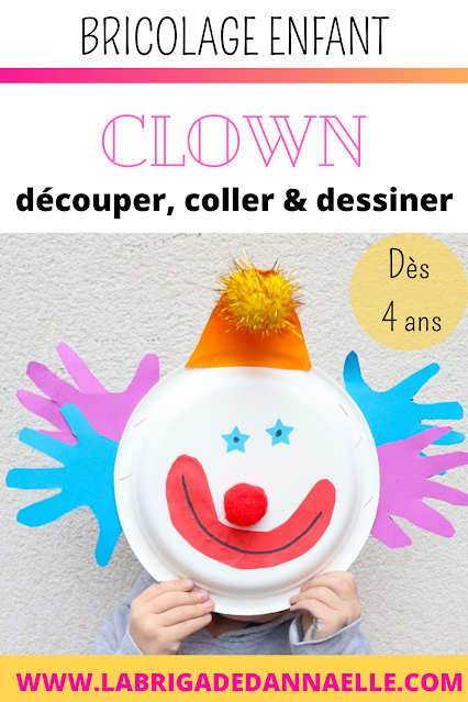 clown avec assiette en carton