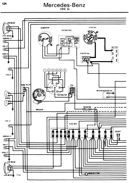 repairmanuals: MercedesBenz 300SL 19621970 Wiring Diagrams